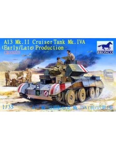 Bronco CB35029 A13 Mk.II Cruiser Tank Mk.IVA (Early/Late) Production 1/35 + дополнение