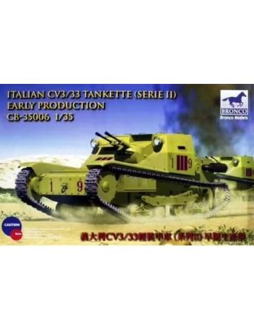 Bronco CB35006 Italian CV3/33 Tankette (Serie II) Early Production 1/35