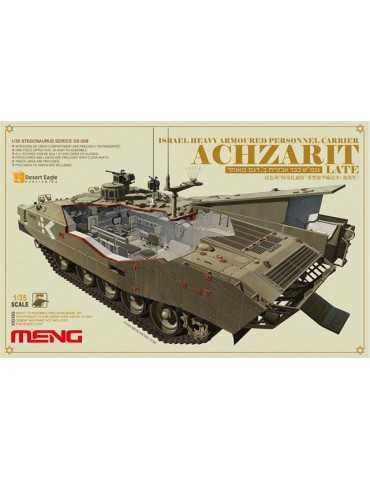 Meng SS-008 Israel heavy armoured personnel carrier Achzarit late + полный интерьер 1/35