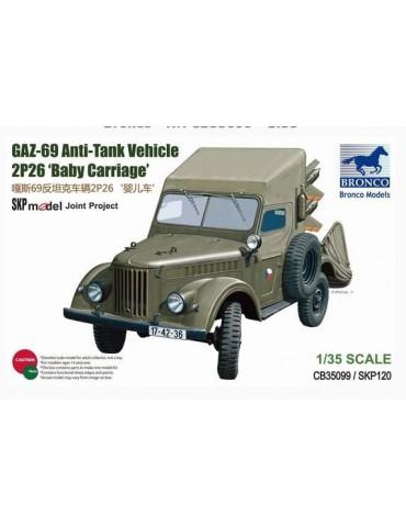Bronco CB35099 GAZ 69 Anti-Tank Vehicle 2P26 Baby Carriage 1/35