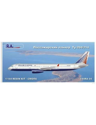 RusAir 144RA04 Модель для сборки самолета Туполев Ту-204/214 1/144
