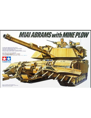 Tamiya 35158 Американский танк M1A1 Abrams с минным тралом 1/35