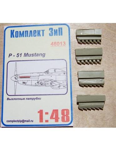 Комплект ЗИП 48013 Выхлопные патрубки P-51 Mustang 1/48