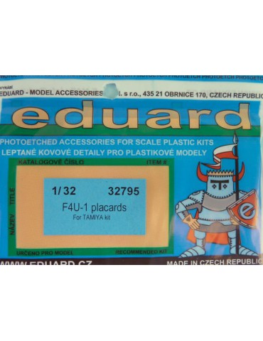 Eduard 32795 F4U-1 placards...