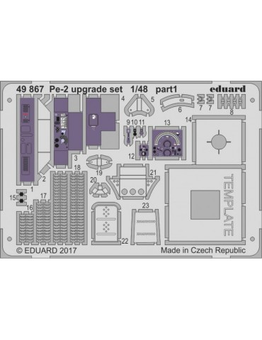 Eduard 49867 Pe-2 upgrade...